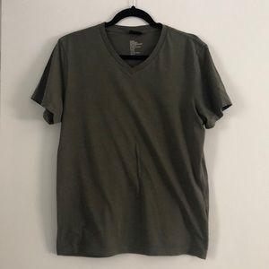 Olive green v neck shirt
